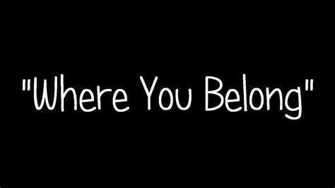 What Are They And Who Do They Belong To Anyway by Kari Kimmel Where You Belong Lyrics
