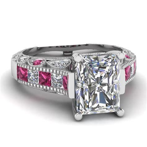 white gold radiant white engagement wedding ring