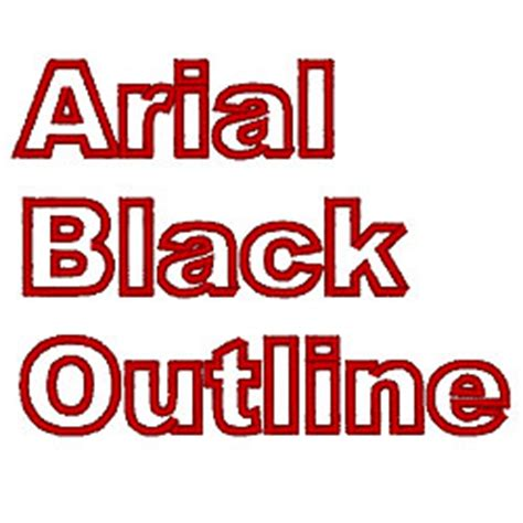 Free Arial Black Outline Font by Arial Black Outline By Fireside Threads Home Format Fonts On Embroiderydesigns