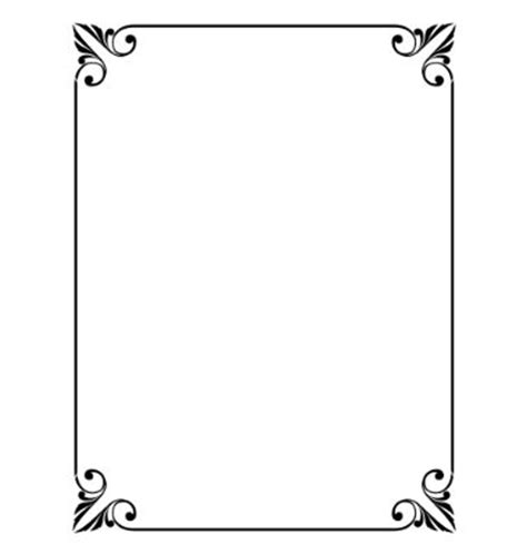 simple ornamental decorative frame vector formal