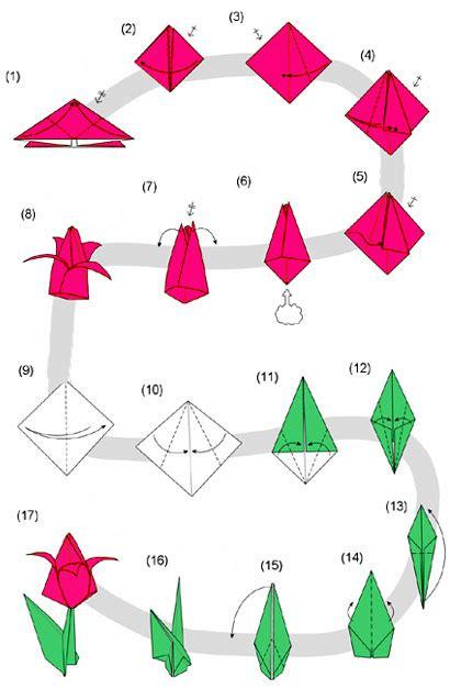 origami fiori semplici per bambini origami tulipano speciale pasqua 2017 sottocoperta