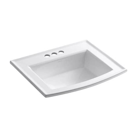 kohler bathroom sinks canada kohler k2356 4 0 archer white drop in rectangular bathroom