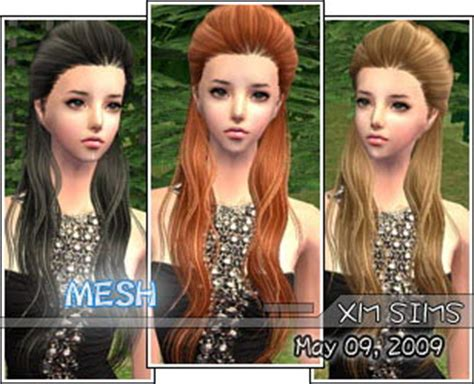 around the sims 2 downloads genetics hair xm sims2 free sims 2 computer game hair new mesh download