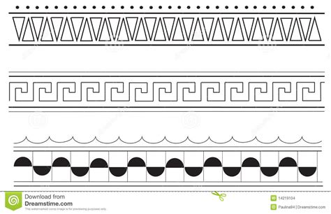 pattern greek illustrator ancient greek border patterns stock vector image 14219104