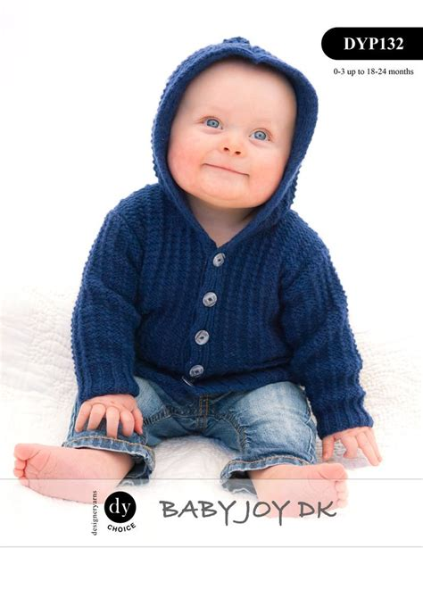 knitting pattern 2 year old cardigan dyp132 dy choice baby joy dk hooded cardigan jacket