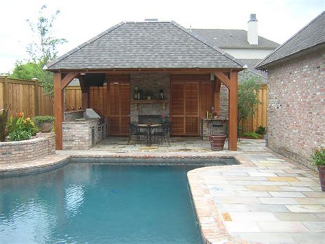 backyard cabana ideas pool cabana traditional pool new orleans by ferris