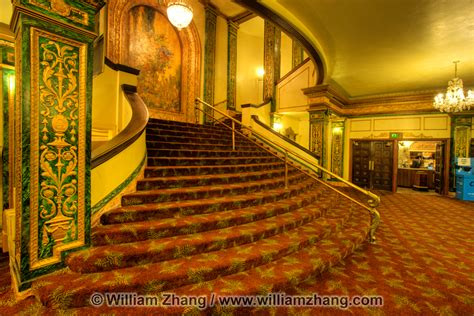 neoclassical interior lobby at grand lake theater oakland ca