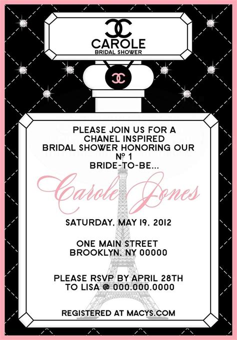 Chanel Invitation Template 1000 Images About Chanel Themed Party On Pinterest Sweet Sixteen Chanel Party And Photo