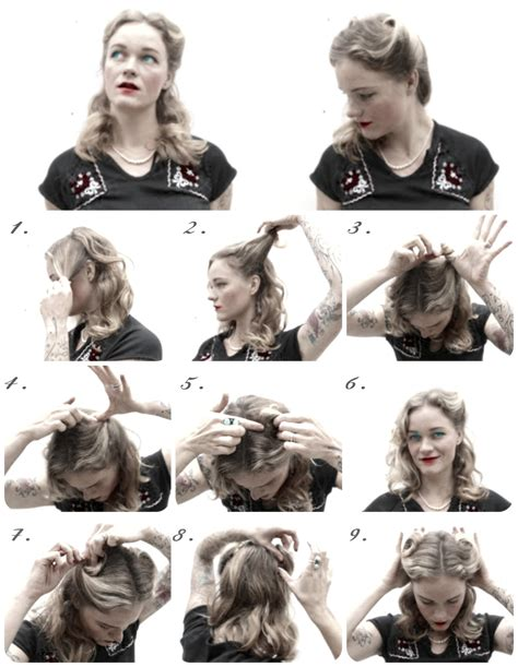 step by step how to do a 1940s updo how to 1940s hairstyles for hair iheartmexo party hair