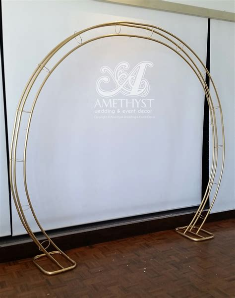 Wedding Arch Gold by Gold Circle Arch