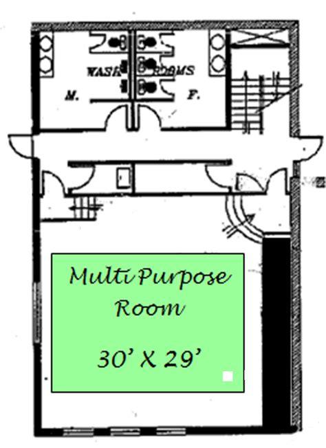 multi purpose floor plan recreation centre