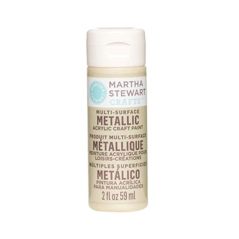martha stewart crafts 2 oz light gold multi surface metallic acrylic craft paint 32996 the