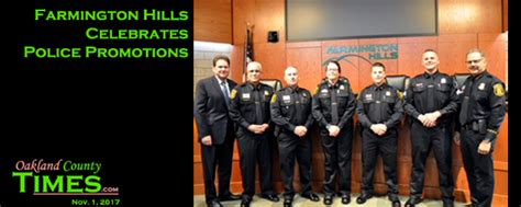Police Giveaways - farmington hills celebrates police promotions the oakland county times