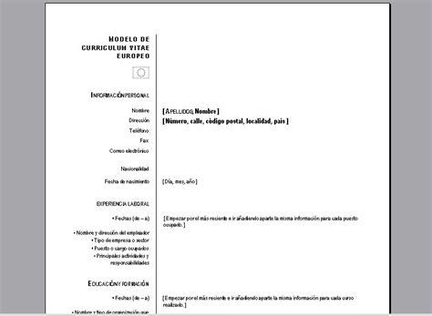 Plantilla De Curriculum Para Llenar descargar formato de curriculum vitae para llenar i started
