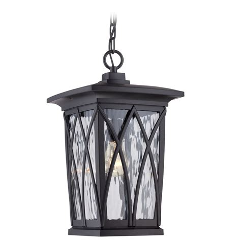 Quoizel Outdoor Lighting Quoizel Grover Mystic Black Outdoor Hanging Light