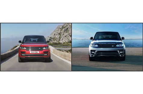 land rover vogue sport 2016 range rover vs 2016 range rover sport head to head
