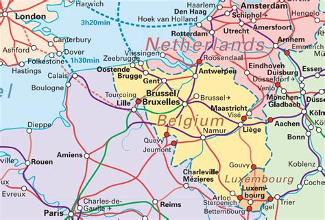 belgium rail map interrail mapas