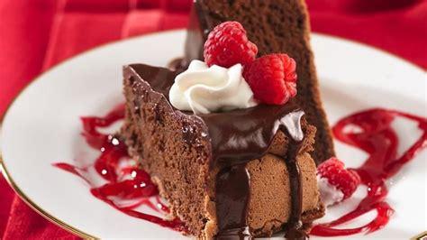 decadent chocolate raspberry cheesecake decadent chocolate cake with raspberry sauce recipe from