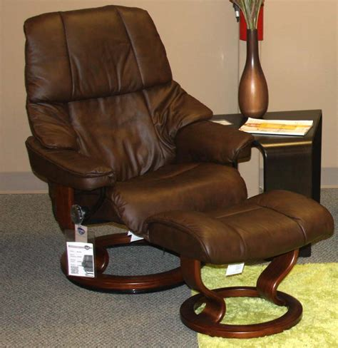 Vegas Recliner by Stressless Vegas Large Recliner Chair Ergonomic Lounger And Ottoman By Ekornes Ekornes