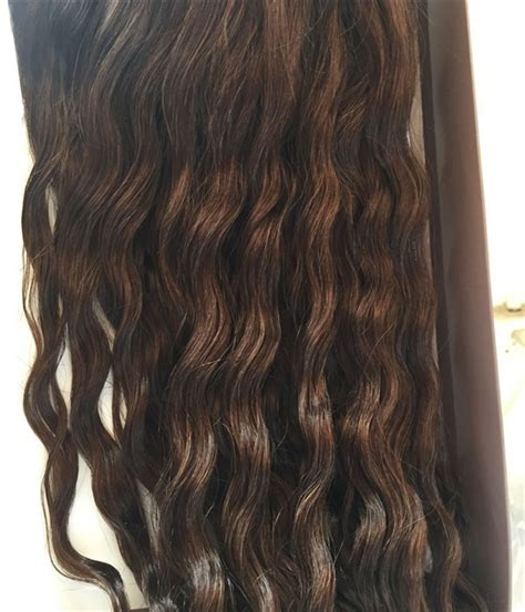 uniwigs halo wavy medium brown hair extentions claire curly wave virgin remy human hair topper 5 5 quot 215 5 5