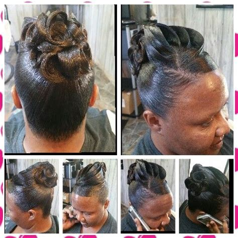 Pin Curl Hairstyles by Pin Curl Updo Shekinah Hair Designs