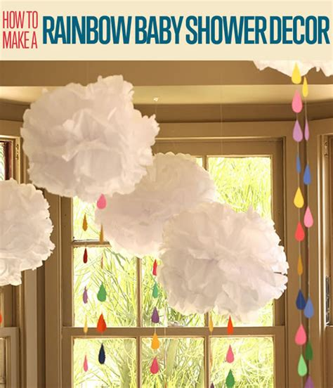How To Make Paper Decorations For Baby Shower - diy baby shower decoration tissue paper rainbow diy