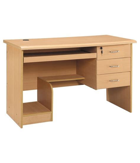 computer table 3 drawer computer table in finish buy 3 drawer