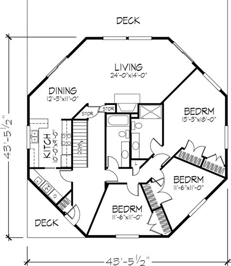 Octagon House Floor Plans by Octagon House Floor Plan 1 Of 2 Levels Dreams For My
