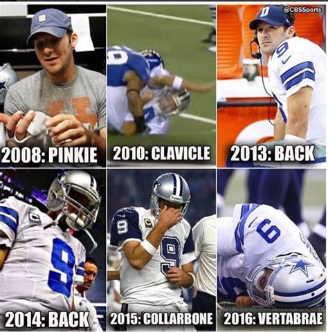 Sports Injury Meme - in honor of his retirement here are the 18 best tony romo