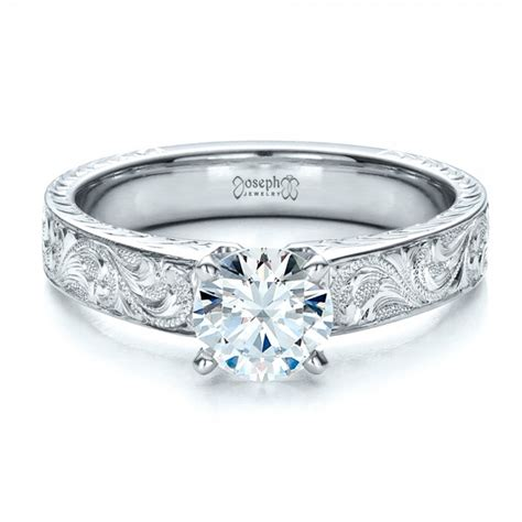 custom engraved solitaire engagement ring 1485