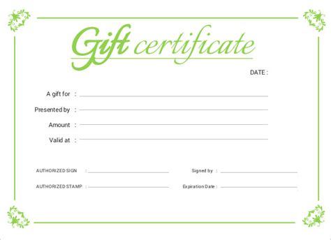 business gift certificate template printable certificate template 46 adobe illustrator