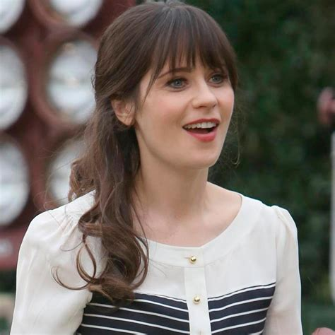 Zooey Deschanel Look Cute in Brown hair