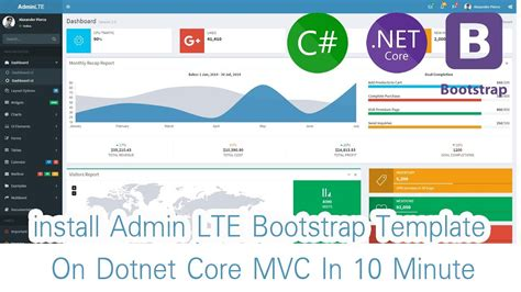 Part 01 Install Admin Lte Bootstrap Template For Dotnet Core Mvc In 10 Minute Thai Youtube Asp Net Mvc Bootstrap Admin Template