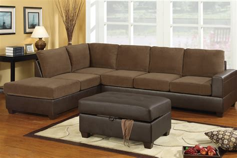 poundex sectionals f7148 truffle sectional sofa set by poundex