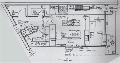 Designing A Small Kitchen Layout restaurant kitchen blueprint afreakatheart