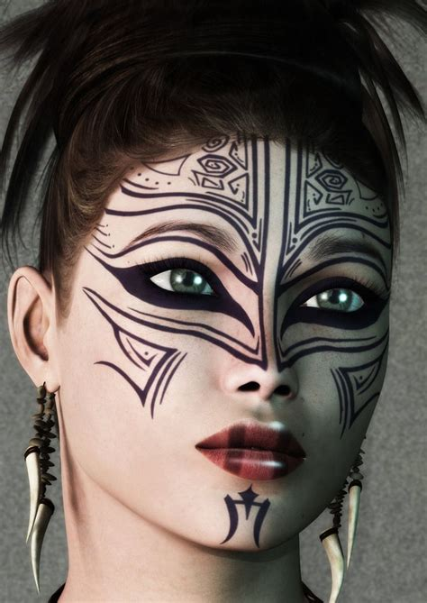 tribal face tattoo designs 76 best abstract makeup images on artistic