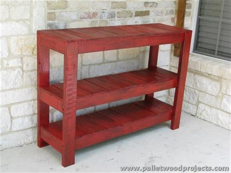 Pallet Console Table Pallet Console Table Plans Pallet Wood Projects