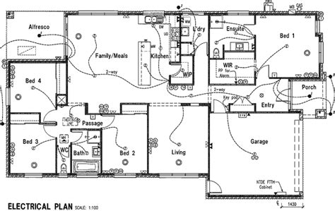 electrical floor plans electrical plan house plans 42863