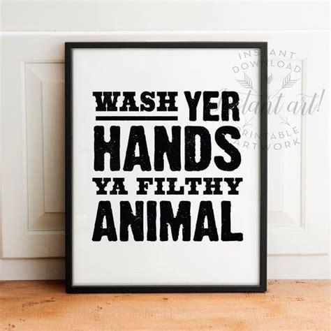 funny bathroom signs to print bathroom wall art printable art wash hands sign wash