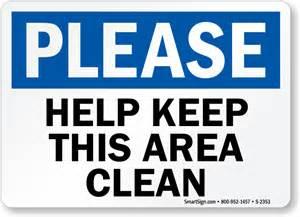 Free Printable Bathroom Signs by Please Help Keep Area Clean Sign Sku S 2353