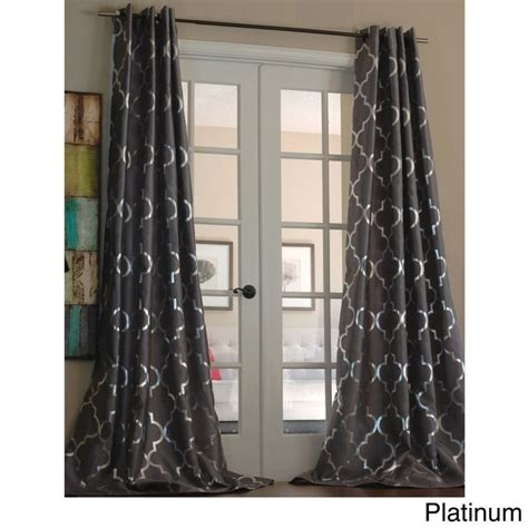 metallic curtain panels casablanca modern metallic trellis pattern curtain panel