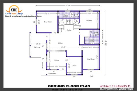 ground floor plan drawing home plan and elevation kerala home design and floor plans
