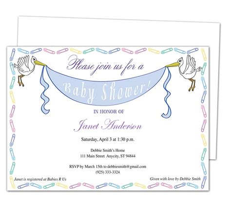 42 Best Images About Baby Shower Invitation Templates On Pinterest Diy Baby Shower Invitations Template