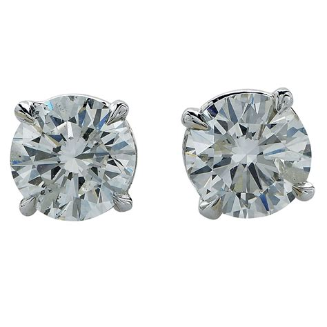 1 carat diamonds for sale 1 87 carat solitaire stud earrings for sale at 1stdibs