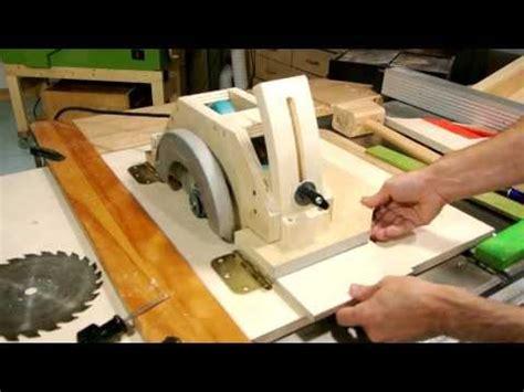 Mesin Gergaji Triplek table saw made from a circular saw artisanvideos