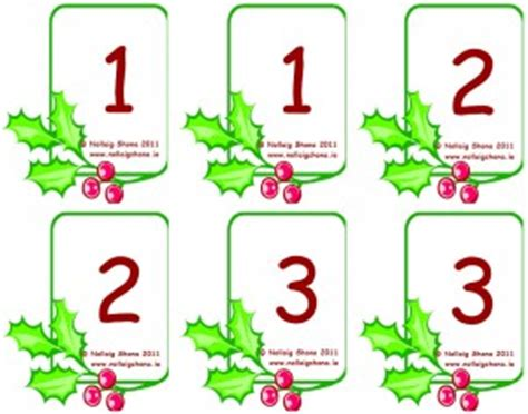 printable christmas number cards snap cards numbers 171 christmas resources for teachers