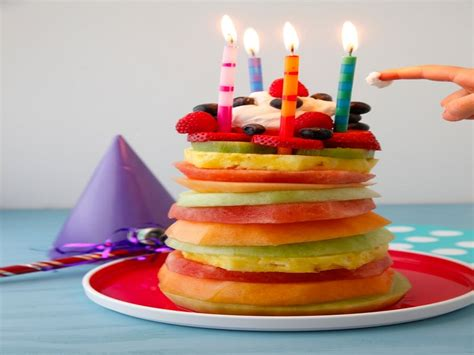How To Make A Birthday Cake Out Of Paper - fruit tower birthday cake easy recipe recipe