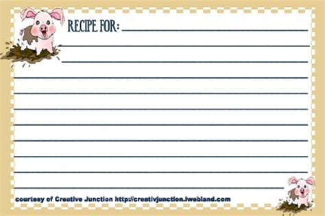 Free 3x5 Recipe Cards Templates by Free Typable Recipe Card Template Car Interior Design