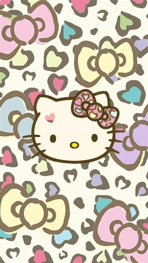 themes line hello kitty leopard girly wallpapers for android group 25