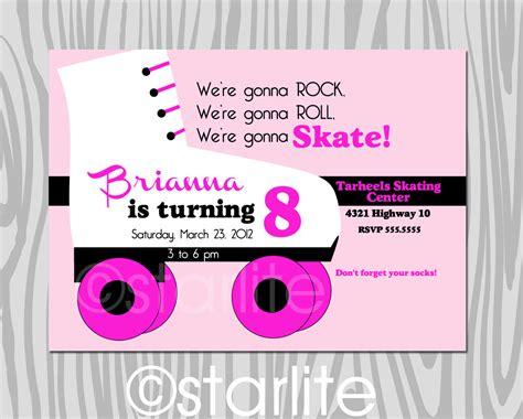 40th birthday ideas roller skate birthday invitation